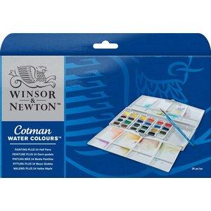 Akvarellfärg W&N Cotman - Målarbox 24 färger