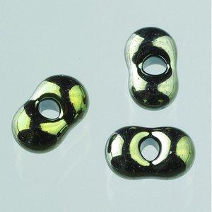 Farfallepärlor - oliv regnbågsfärg