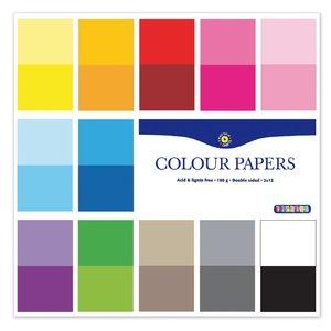 Färgade syrafria papper i block