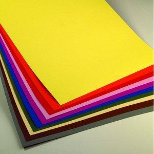 Färgat pappark 50 x 70 cm - 10 ark / 300 g/m²