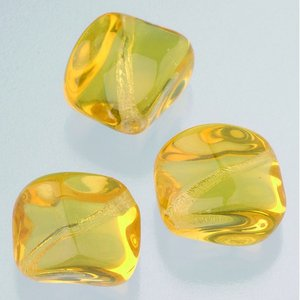 Glaspärlor 16 x 16 mm - topas 5 st. nr 3