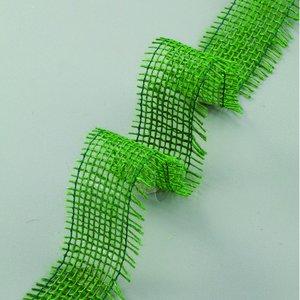 Juteband 40 mm - 25 meter - grön
