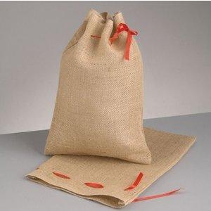 Jutesäck med knytsnöre 25 x 35 cm