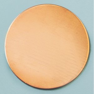 Kopparplatta blank ø 28 mm - runda