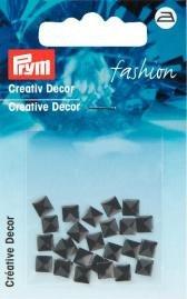 Kreativ Dekor fyrkantig påstrykes 5mm svart 26 st