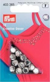 Kreativ Dekor strass påstrykes 7mm silverfärg 12 st