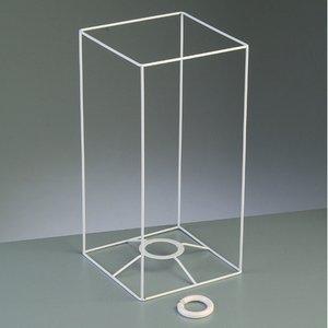 Lampstomme ram 30 cm / 15x15 cm - vit kvadrat