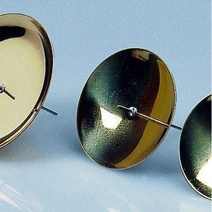 Ljushållare med stift ø 50 mm - guld 4 st.