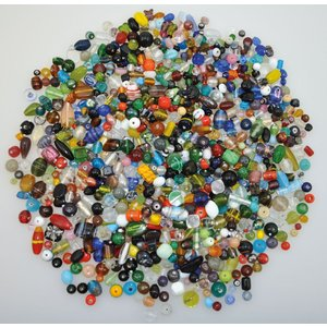 Mixade glaspärlor 1 kg
