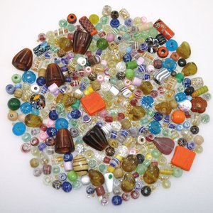 Mixade glaspärlor 500 g