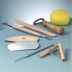 Modelleringsverktyg set - keramik / 8 delar