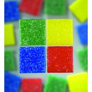 MosaixPro - glasmosaik 10 x 10 mm - blandade färger 1.000 g ~ 1