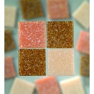 MosaixPro - glasmosaik 10 x 10 mm - naturlig blandning 1.000 g ~ 1