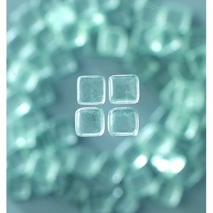MosaixSoft - glasmosaik 10 x 10 mm - transparent 200 g ~ 215 st.