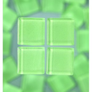 MosaixSoft - glasmosaik 20 x 20 mm - ljusgrön 1.000 g ~ 204 st.