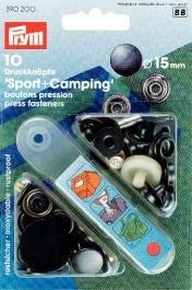 Nittryckknapp SP.&CAMP. mässing oxiderad svart 15 mm 10 st