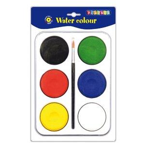Palett m färgpuckar