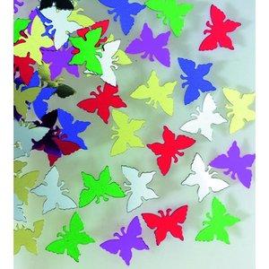 Paljetter 14 mm - blandade färger 20 g fjärilar