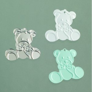 Paljetter 20 mm - ljusblå silver vit blandade 20 g Baby / teddy