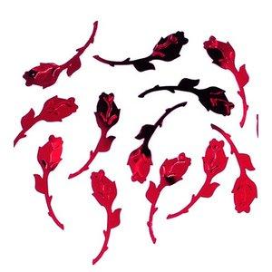 Paljetter 27 mm - röd 20 g rosor