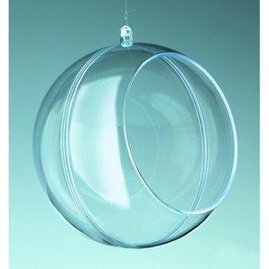 Plastform 120 mm - kristallklar boll