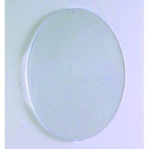 Plasthänge 100 x 80 mm - kristallklar oval