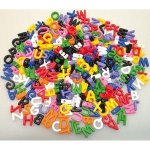 Plastpärlor 500 g ABC