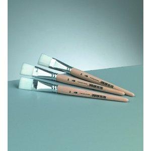 Platt pensel syntetiskt hår Gr. 24 /