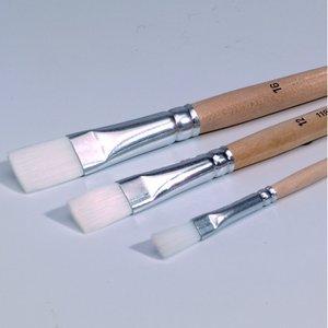 Platt pensel syntetiskt hår - 6 mm