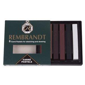 Rembrandt Carré Pastel i set - bruna nyanser - 6 st