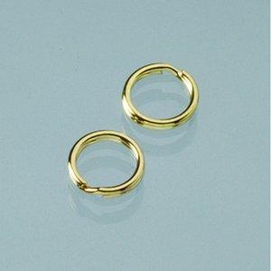 Ringögla ø 9 mm - guldpläterade 10 bitar