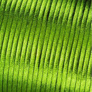 Satinsnöre 2 mm - 50 meter - grön