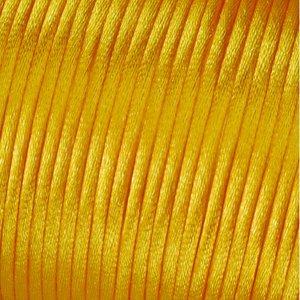 Satinsnöre 2 mm - 50 meter - gul