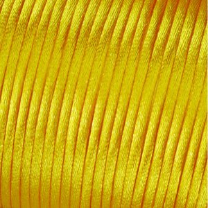 Satinsnöre 2 mm - 50 meter - ljusgul