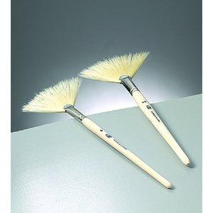 Silkesmålning solfjäderspensel Gr. 12 / - obehandlat