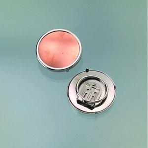 Sjalsclip för emaljering ø 36 mm - silverfärgad rund