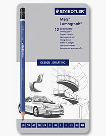 Skisspennor - Mars Lumograph (Set 12 st 4H-6B)