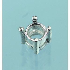 Smyckesdel 4 mm - 980 silver 1 st. snedslipad rund bit