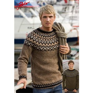 Stickmönster - Isländsk tröja för honom