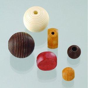 Träpärlor - brunmix 25 st. färg-form mix