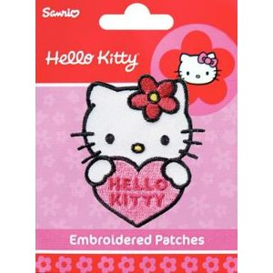 Tygmärke Hello Kitty ansikte