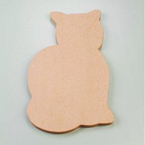 Väggskylt 46 x 28 x 2 cm - katt sittande