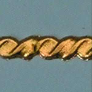 Vaxdekoration bård 200 x 4 mm - guld snöre platt