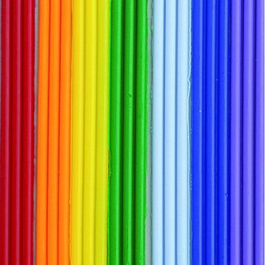 Vaxremsor 200 x 2 mm - regnbågsfärg 7 x 3 band