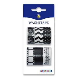 Washitape 6-pack svart