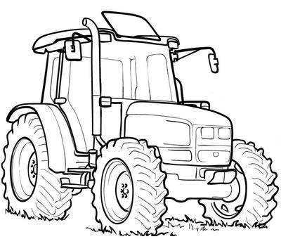traktor målarbild