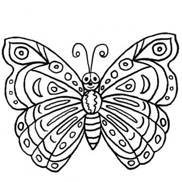 fjäril målarbild