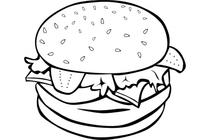 hamburgare målarbild