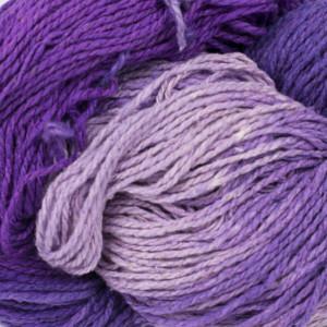 BC Garn Soft Silk Handfärgat 155 Ljuslila/Mörklila