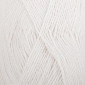 Drops Alpaca Garn Unicolor 101 Vit